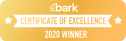 Bark Certificate of Excellence 2020
